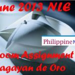 June 2013 NLE Room Assignment Cagayan de Oro City