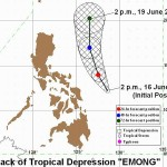 "LPA Now Tropical Depression ""Emong"" PAG-ASA Bulletin June 16"
