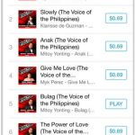 Top Four Artists of The Voice Ph Dominate iTunes Chart Philippines