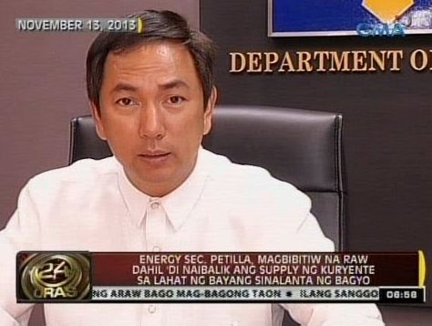 Energy Secretary Petilla