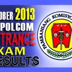 NAPOLCOM (PNP) Entrance Exam Results List of Passers (Oct. 2013)
