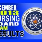 Nursing (NLE) Board Exam Results List of Passers (December 2013)