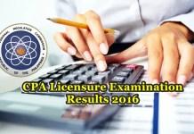 CPA examination results October 2016