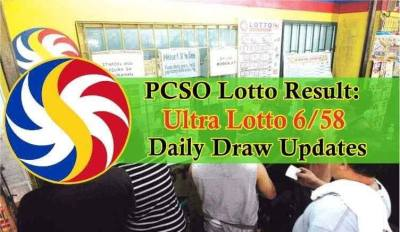 PCSO Ultra Lotto 6/58 Result: August 7, 2018 Draw - Philippine News