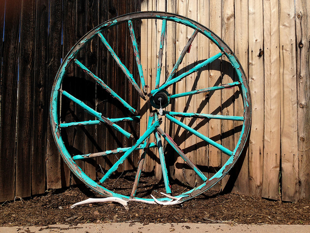 When crossing the American Plains, when you broke the wagon wheel, that's where you settled down.
