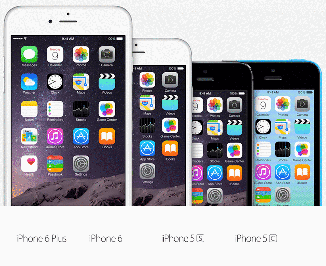 iphone 6 plus vs iphone 5s, 5c