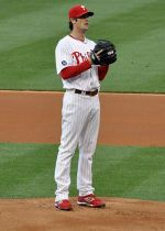 Cole Hamels, 2008 World Series MVP, photo by Mel Rowling