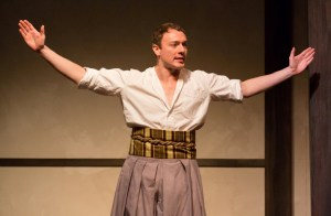 Jered McLenigan as Marc Antony, in Japanese-style costume by Brian Strachan (Photo credit: Mark Garvin)