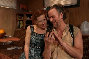 Catharine Slusar as Emma and Pearce Bunting as Ulysses in Theatre Exile's ANNAPURNA (Photo credit: Paola Nogueras)