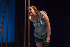 Mary Beth Shrader in Neil LaBute's IN A DARK DARK HOUSE. Photo by Daniel Kontz.