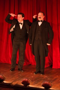 Steve Pacek and Adam Altmanin THE 39 STEPS. Photo by Matthew J. Photography