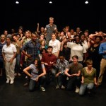 The entire cast of the Second Annual One-Minute Play Festival at the InterAct, 2014. Photo credit: Seth Rozin.