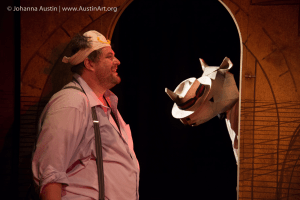 Ethan Lipkin stars as Bérenger in the IRC's RHINOCEROS (Photo credit: Johanna Austin @ AustinArt.org)