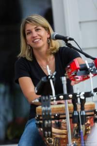 Gretchen Schultz on percussion (Photo credit: Gary Regulski)