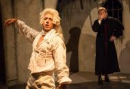 Robb Hutter as the Marquis de Sade and Alan Holmes as his priest in Luna Theater Company's production of QUILLS by Doug Wright. Photo by Kate Raines at www.plate3photography.com.