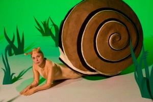 Isabella Rossellini portrays a snail in GREEN PORNO (Photo credit: Mario del Curto)