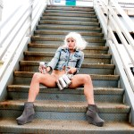 Adrienne Truscott stars in Simpatico Theatre Project's ASKING FOR IT, Photo by Sara Brown.