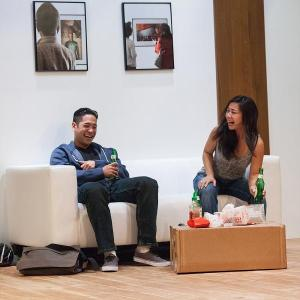 Justin Jain and Bi Jean Ngo in InterAct's CAUGHT (Photo credit: Kate Raines/Plate 3 Photography)