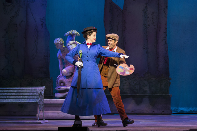 Lindsey Bliven and David Elder in MARY POPPINS. (Photo by Squid Ink Creative, courtesy of Music Theatre Wichita)