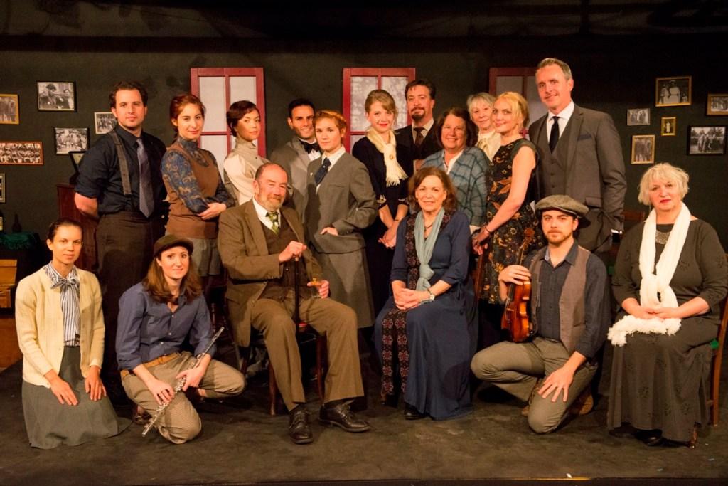 The ensemble of CTC's JAMES JOYCE'S THE DEAD (Photo credit: Joe del Tufo)
