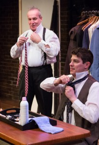"Davy Raphaely and Bill Van Horn in ""A Life in the Theatre"" at Walnut Street Theatre Independence Studio on 3. Credit: Mark Garvin."