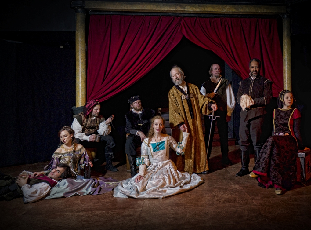 Ensemble (Eric Scotolati, Colleen Hughes, Paul Kuhn, Steve Carpenter, Isa St. Clair, Bob Weick, Brian McCann, Steve Wright, Rachel Gluck) of Curio Theatre Company's OTHELLO (Photo credit: Kyle Cassidy)