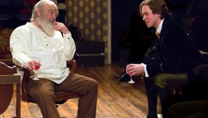 Buck Schirner and Daniel Fredrick in Mickle Street at Walnut Street Theatre's Independence Studio on 3. Photo by Mark Garvin.