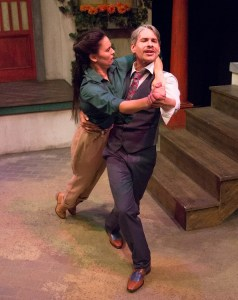 Joanna Liao and J Hernandez star in Lantern Theater Company's THE TAMING OF THE SHREW (Photo credit: Mark Garvin)