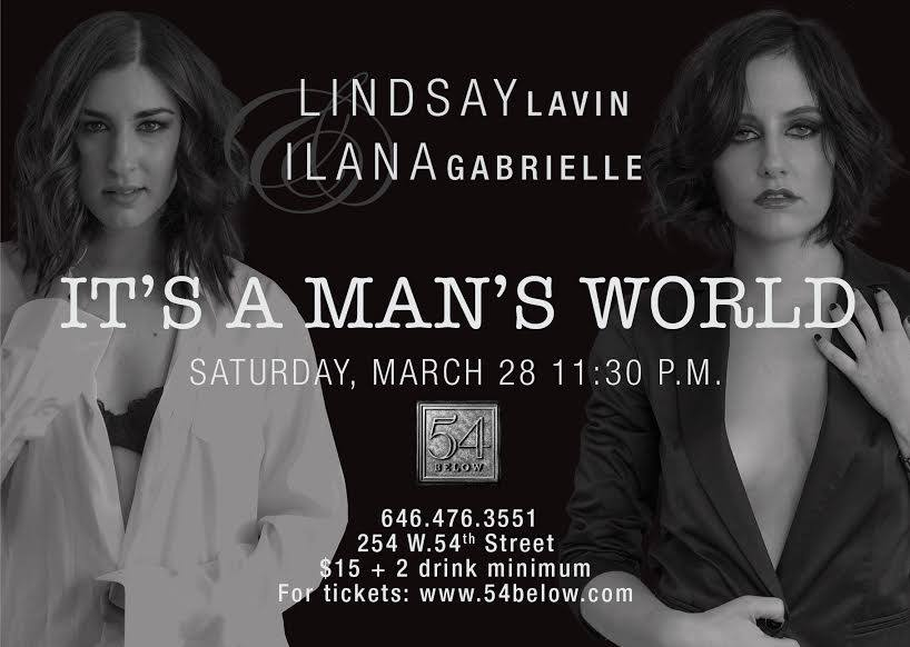 "Lindsay Lavin and Ilana Gabrielle perform ""It's a Man's World"" at 54 Below (Photo credit: Jeffrey Auger)"