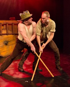 Tim Settle and Simon Donaldson do battle in JASON AND THE ARGONAUTS at People's Light (Photo credit: Mark Garvin)