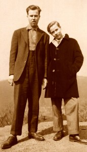 Paul and Andy Warhola, c. 1943 (Photo credit: Anne Warhola)