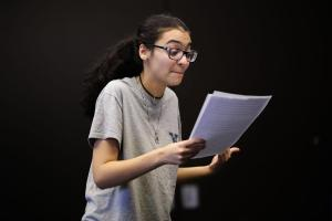 Becca Khalil, one of the actors in YOUNG VOICES.