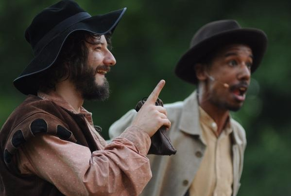 Robert Daponte with Reuben Mitchell in The Merry Wives of Windsor, 2012.