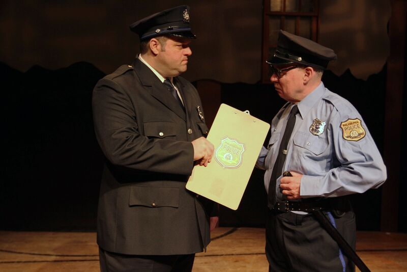Scott Greer as Frank Rizzo and William Rahill as his father Ralph in Theatre Exile's RIZZO (Photo credit: Paola Nogueras)