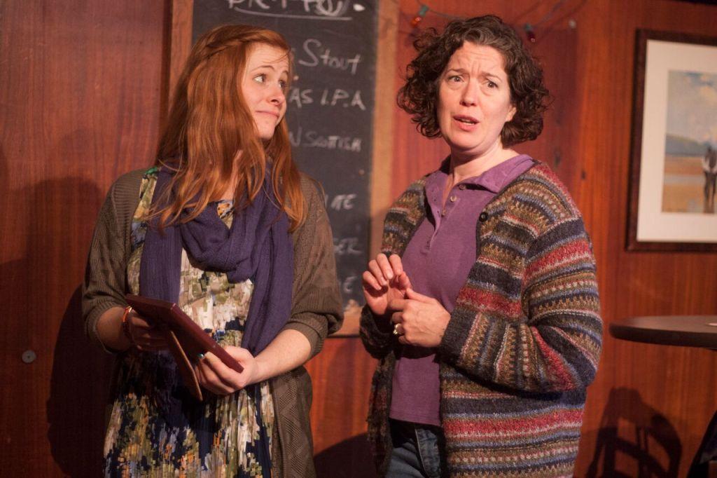 Rachel Brodeur and Corinna Burns in HOOKED. Photo by Katie Reing.
