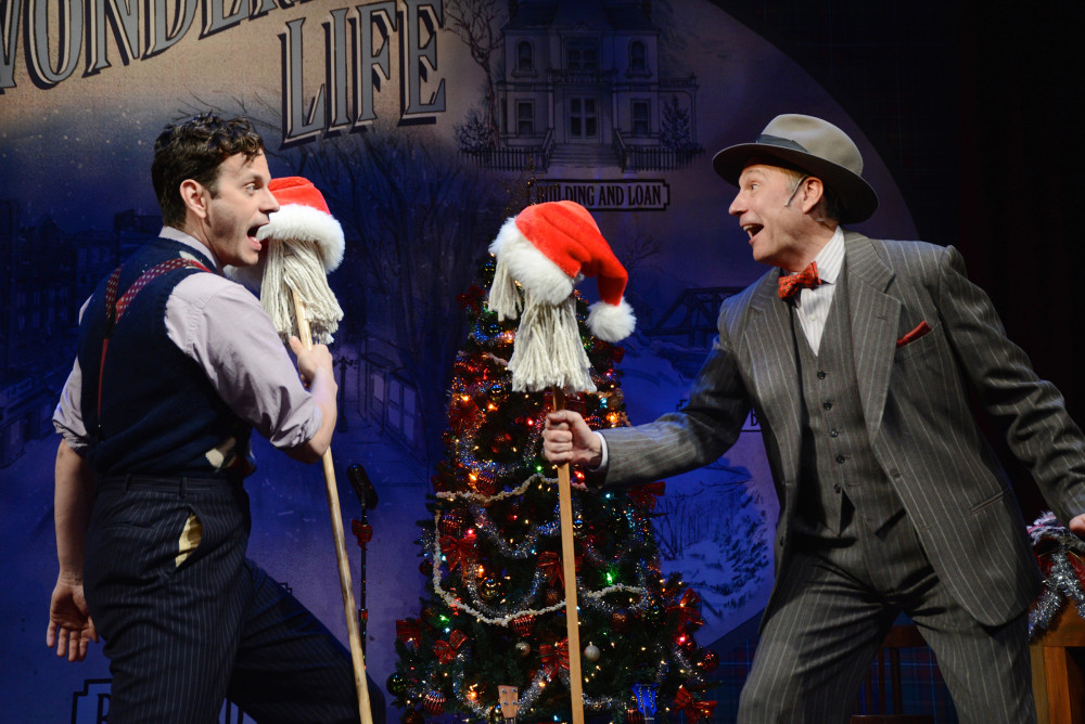 Wayne Wilcox and Kevin Pariseau in IT'S A WONDERFUL LIFE: A LIVE RADIO PLAY. Photo by Mandee Kuenzle.