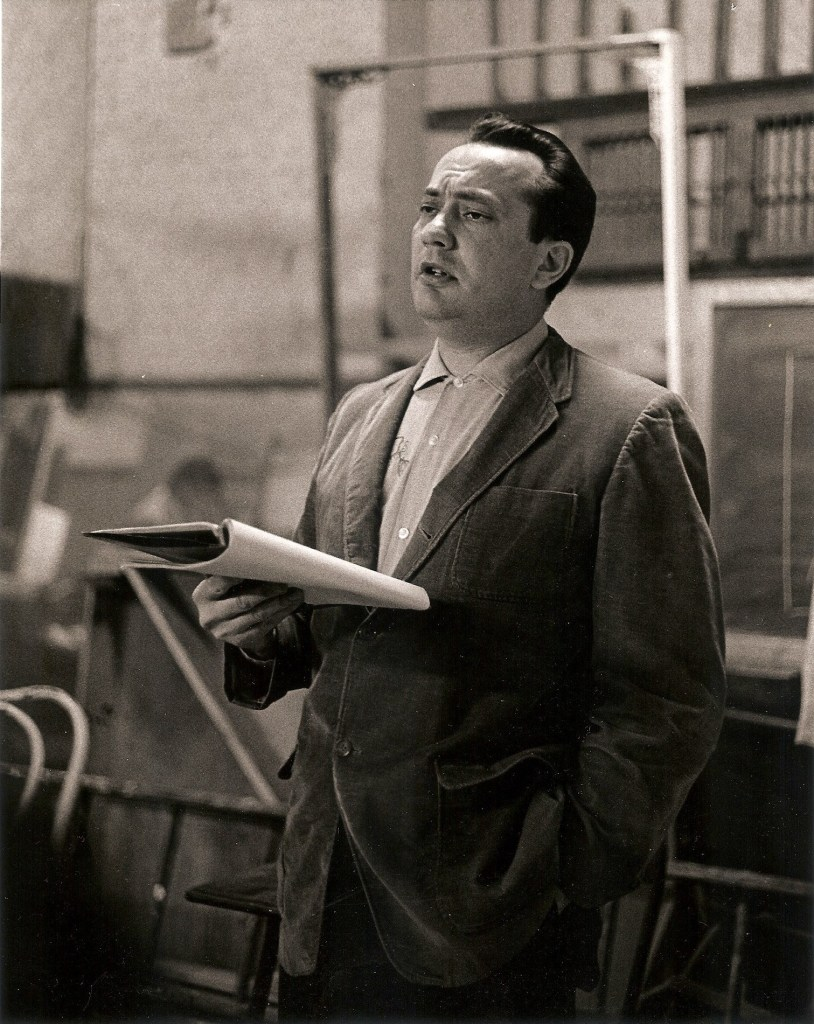Walt Vail conducting the Playwrights Project at Society Hill Playhouse, photo was probably taken by Paul S. Buck, late 1950s
