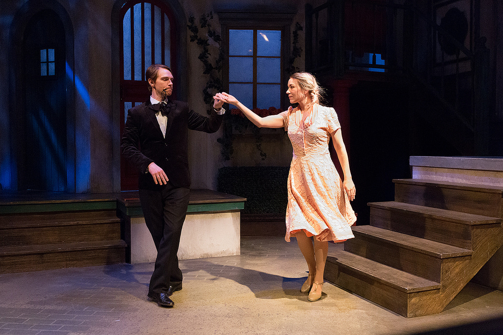 Ahren Potratz and K.O. DelMarcelle (who also did the choreography) in Lantern Theater Company's THE TAMING OF THE SHREW (Photo credit: Mark Garvin)