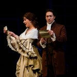 Ben Dibble as John Adams and xxx as Abigail in 1776 The Musical. Photo by Maura McConnell
