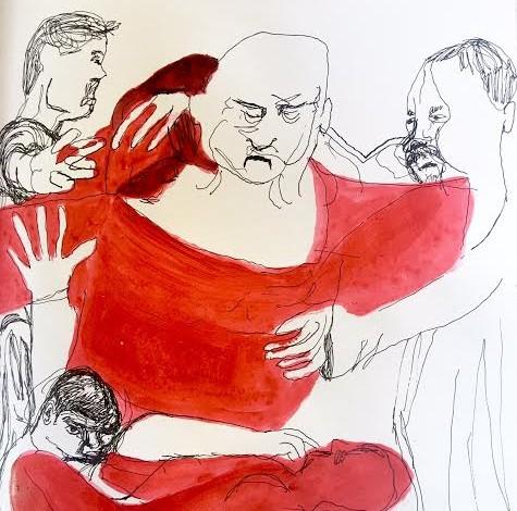 JULIUS CAESAR. SPARED PARTS. Sketch by Chuck Schultz.