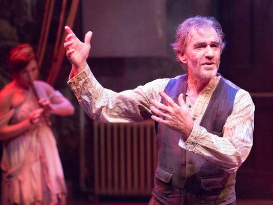Peter DeLaurier in AN ILIAD at Lantern Theater Company. Photo by Mark Garvin.