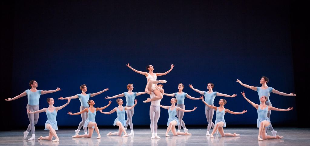 Artists of Pennsylvania Ballet in George Balanchine's Square Dance. Photo Credit: Alexander Iziliaev