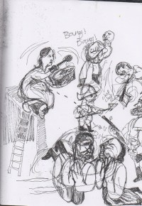 Theater in Sketch: MOTHER COURAGE