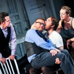 (l-r) Tom O'Keefe, Edmund Lewis, Eric Tucker, and Andrus Nichols in HAMLET. Photo by Jenny Anderson