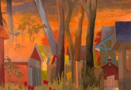 """""""Tall Trees Night"""" by Celia Resman. Part of her exhibition A Moment Noticed at Gross McCleaf Gallery"""