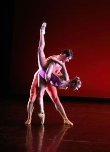 "Skyler Lubin and Zachary Kapeluck in ""Vivir"" by Darrell Grand Moultrie. Photo by Bill Hebert."