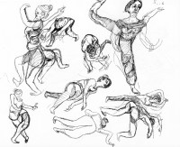 Dance Rehearsal in Sketch: BARRY: MAMALOSHEN (Asya Zlatina)