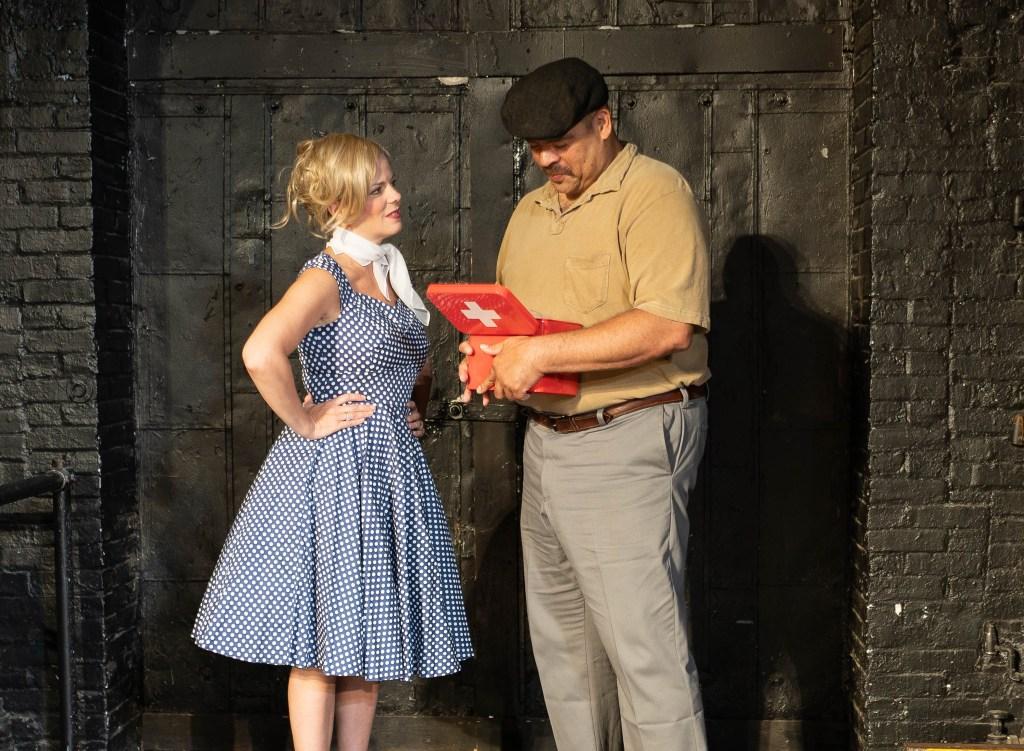 Kirsten Quinn as Lily and Brian Wilson as Dean. Photo by Dawn Brooks.
