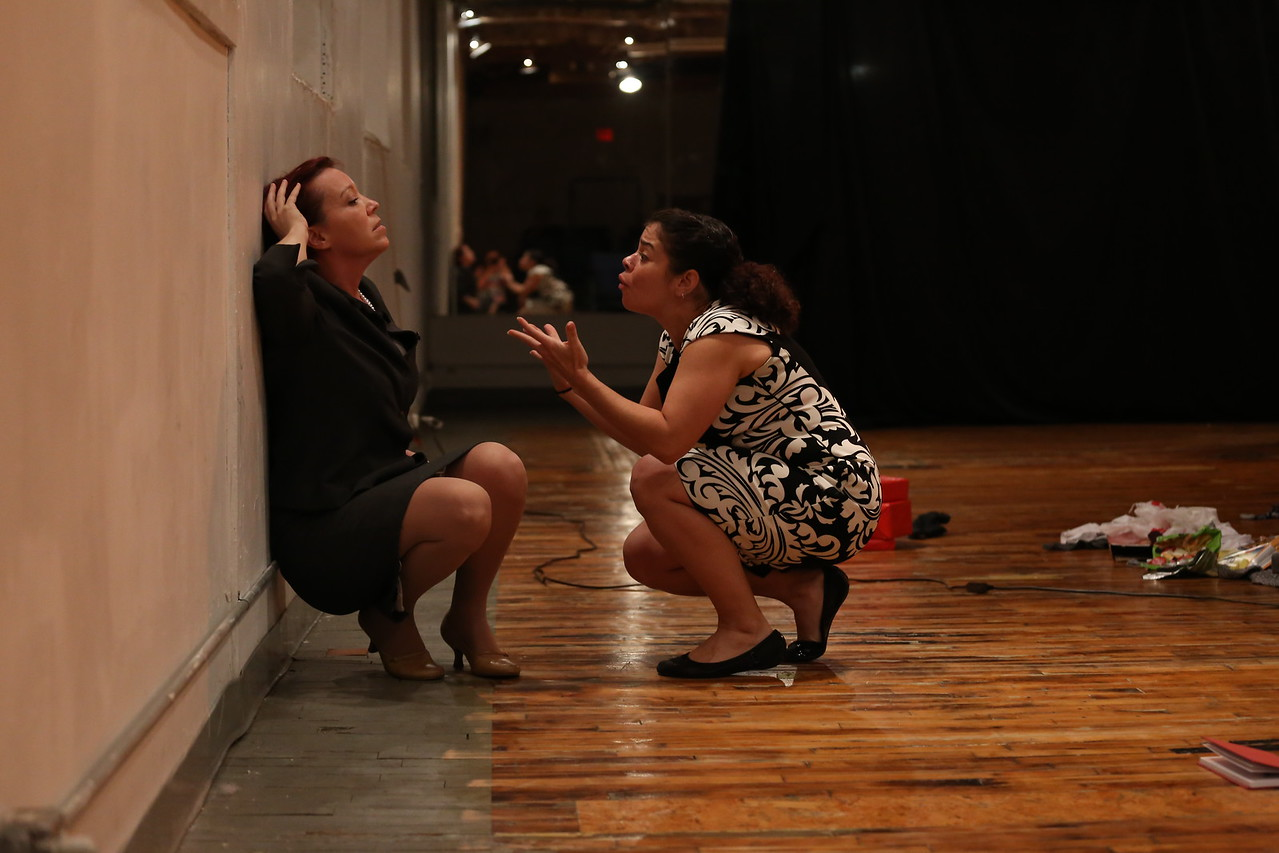 4. Amanda Schoonover and Rachel O'Hanlon Rodriguez in Phaedra's Love. Photo by Ann Marley.
