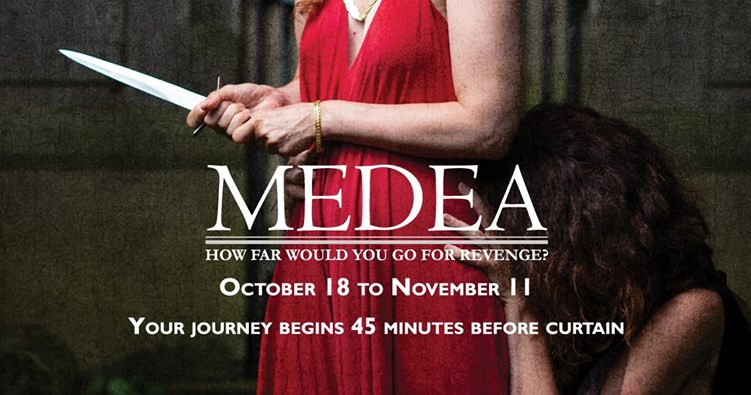 Medea, Hedgerow Theatre poster. Photo by Kyle Cassidy